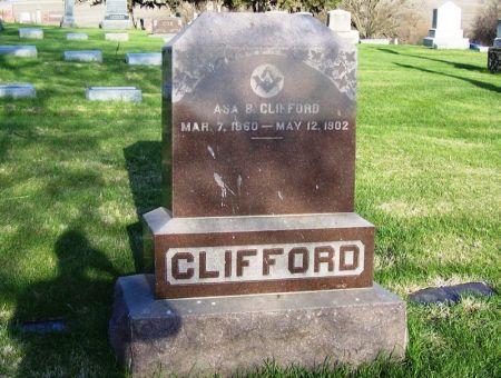 CLIFFORD, ASA B. - Guthrie County, Iowa   ASA B. CLIFFORD