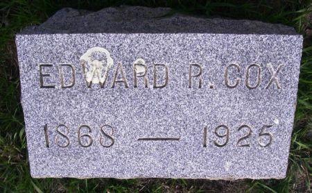 COX, EDWARD R. - Guthrie County, Iowa   EDWARD R. COX