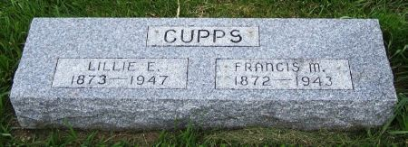 CUPPS, LILLIE E. - Guthrie County, Iowa   LILLIE E. CUPPS
