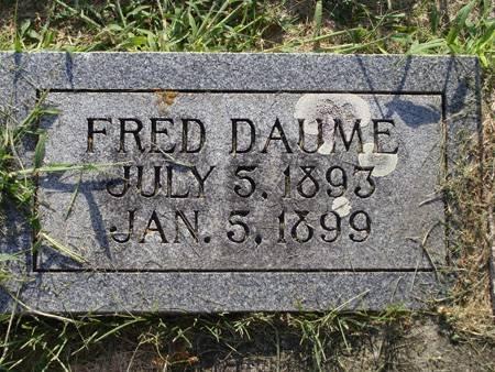 DAUME, FRED - Guthrie County, Iowa   FRED DAUME