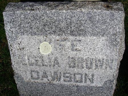BROWN DAWSON, CECELIA - Guthrie County, Iowa   CECELIA BROWN DAWSON