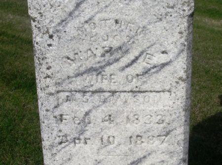 DAWSON, MARY E. - Guthrie County, Iowa   MARY E. DAWSON
