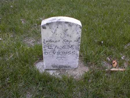 DEVILBISS, INFANT SON OF CA & M - Guthrie County, Iowa | INFANT SON OF CA & M DEVILBISS