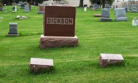 DICKSON, HARVEY A. FAMILY STONE - Guthrie County, Iowa | HARVEY A. FAMILY STONE DICKSON