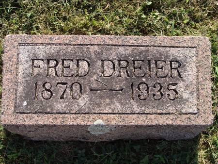 DREIER, FRED - Guthrie County, Iowa   FRED DREIER