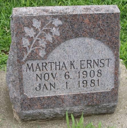 ERNST, MARTHA K - Guthrie County, Iowa | MARTHA K ERNST