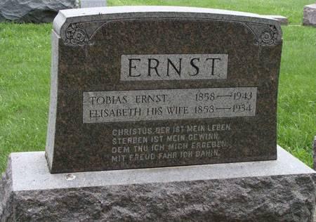 ERNST, ELISABETH - Guthrie County, Iowa   ELISABETH ERNST