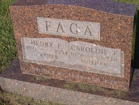 FAGA, CAROLINE F - Guthrie County, Iowa | CAROLINE F FAGA