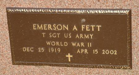 FETT, EMERSON A - Guthrie County, Iowa | EMERSON A FETT