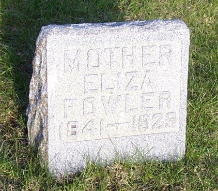 FOWLER, ELIZA - Guthrie County, Iowa   ELIZA FOWLER