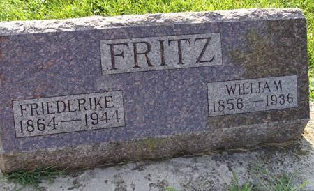 FRITZ, FRIEDERIKE - Guthrie County, Iowa   FRIEDERIKE FRITZ