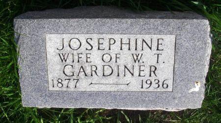 GARDINER, JOSEPHINE - Guthrie County, Iowa   JOSEPHINE GARDINER