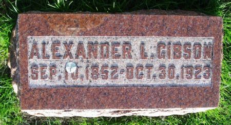 GIBSON, ALEXANDER L. - Guthrie County, Iowa   ALEXANDER L. GIBSON