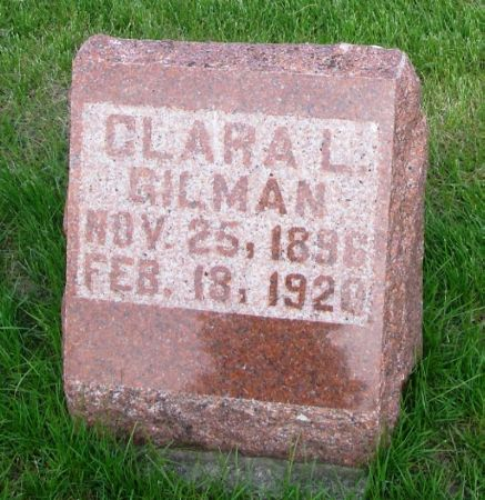 GILMAN, CLARA L. - Guthrie County, Iowa   CLARA L. GILMAN