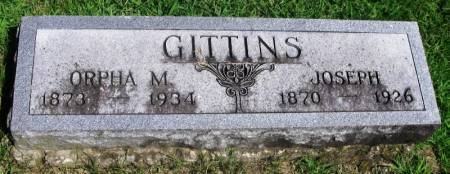 GITTINS, ORPHA M. - Guthrie County, Iowa   ORPHA M. GITTINS