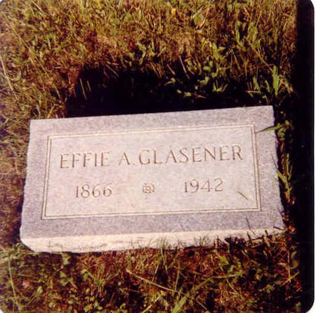PARKER GLASENER, EFFIE ANN - Guthrie County, Iowa | EFFIE ANN PARKER GLASENER