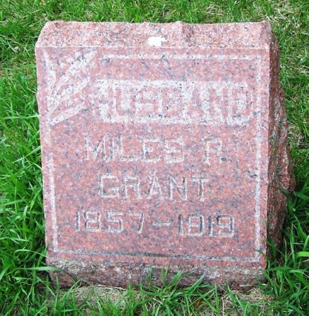 GRANT, MILES R. - Guthrie County, Iowa   MILES R. GRANT