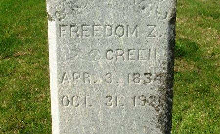 GREEN, FREEDOM Z. - Guthrie County, Iowa   FREEDOM Z. GREEN