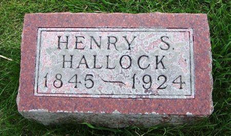 HALLOCK, HENRY S. - Guthrie County, Iowa   HENRY S. HALLOCK