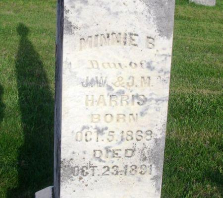 HARRIS, MINNIE B. - Guthrie County, Iowa   MINNIE B. HARRIS