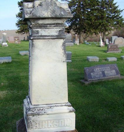 HINKSON, GEO. FAMILY STONE - Guthrie County, Iowa   GEO. FAMILY STONE HINKSON