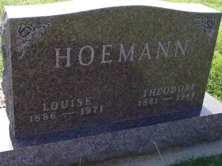 HOEMANN, LOUISE - Guthrie County, Iowa   LOUISE HOEMANN