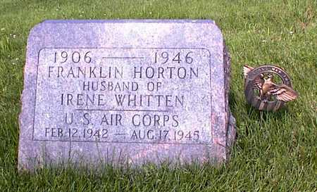 HORTON, FRANKLIN - Guthrie County, Iowa   FRANKLIN HORTON