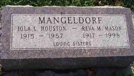 MANGELDORF MASON, REVA M - Guthrie County, Iowa   REVA M MANGELDORF MASON