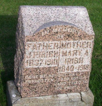 IRISH, MARY A. - Guthrie County, Iowa | MARY A. IRISH