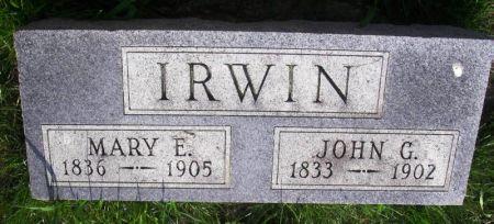 IRWIN, JOHN G. - Guthrie County, Iowa | JOHN G. IRWIN