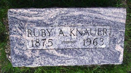 KNAUER, RUBY A . - Guthrie County, Iowa | RUBY A . KNAUER