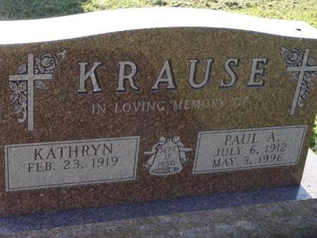 KRAUSE, PAUL A - Guthrie County, Iowa   PAUL A KRAUSE