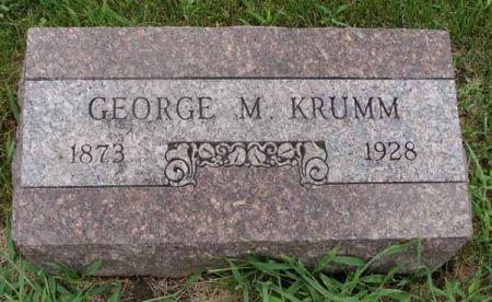 KRUMM, GEORGE M. - Guthrie County, Iowa | GEORGE M. KRUMM