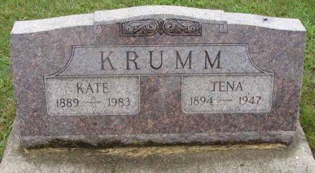 KRUMM, TENA - Guthrie County, Iowa   TENA KRUMM