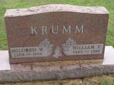 KRUMM, MILDRED W. - Guthrie County, Iowa | MILDRED W. KRUMM