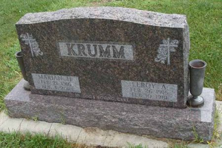 CORRELL KRUMM, MARIAN H. - Guthrie County, Iowa   MARIAN H. CORRELL KRUMM
