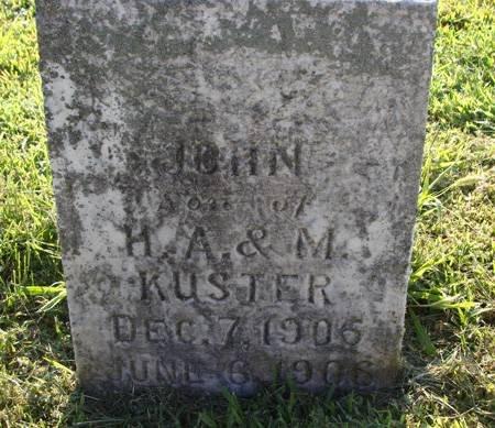 KUSTER, JOHN - Guthrie County, Iowa   JOHN KUSTER