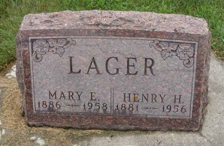 LAGER, MARY E. - Guthrie County, Iowa   MARY E. LAGER