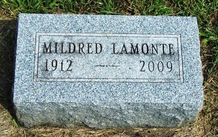 LAMONTE, MILDRED - Guthrie County, Iowa   MILDRED LAMONTE