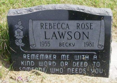 LAWSON, REBECCA ROSE - Guthrie County, Iowa | REBECCA ROSE LAWSON