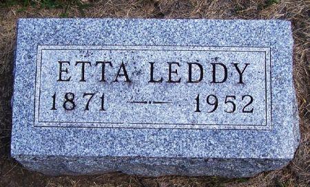 LEDDY, ETTA - Guthrie County, Iowa | ETTA LEDDY