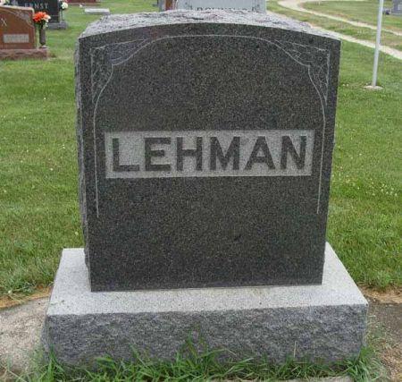 LEHMAN, FAMILY MONUMENT - Guthrie County, Iowa   FAMILY MONUMENT LEHMAN