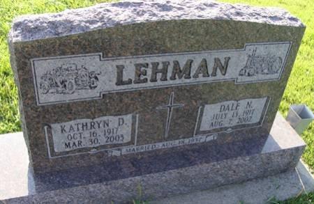 LEHMAN, DALE N - Guthrie County, Iowa   DALE N LEHMAN