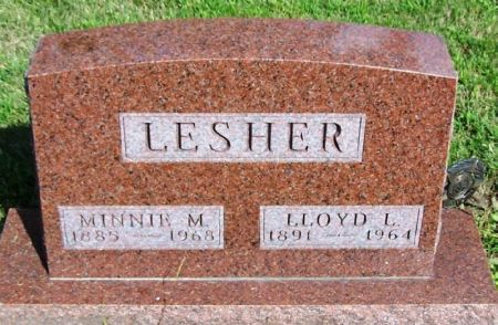 LESHER, MINNIE M. - Guthrie County, Iowa | MINNIE M. LESHER