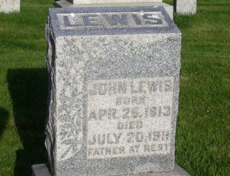 LEWIS, JOHN - Guthrie County, Iowa   JOHN LEWIS