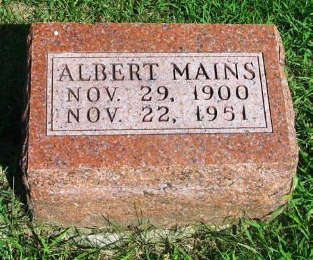 MAINS, ALBERT - Guthrie County, Iowa   ALBERT MAINS