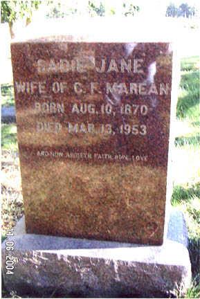 MAREAN, SADIE JANE - Guthrie County, Iowa | SADIE JANE MAREAN