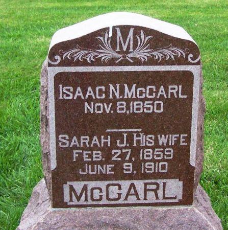MCCARL, SARAH J. - Guthrie County, Iowa | SARAH J. MCCARL