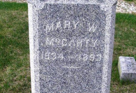 MCCARTY, MARY W. - Guthrie County, Iowa | MARY W. MCCARTY
