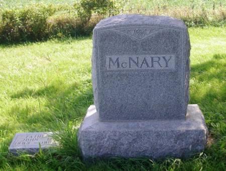 MCNARY, JOHN D. FAMILY STONE - Guthrie County, Iowa   JOHN D. FAMILY STONE MCNARY